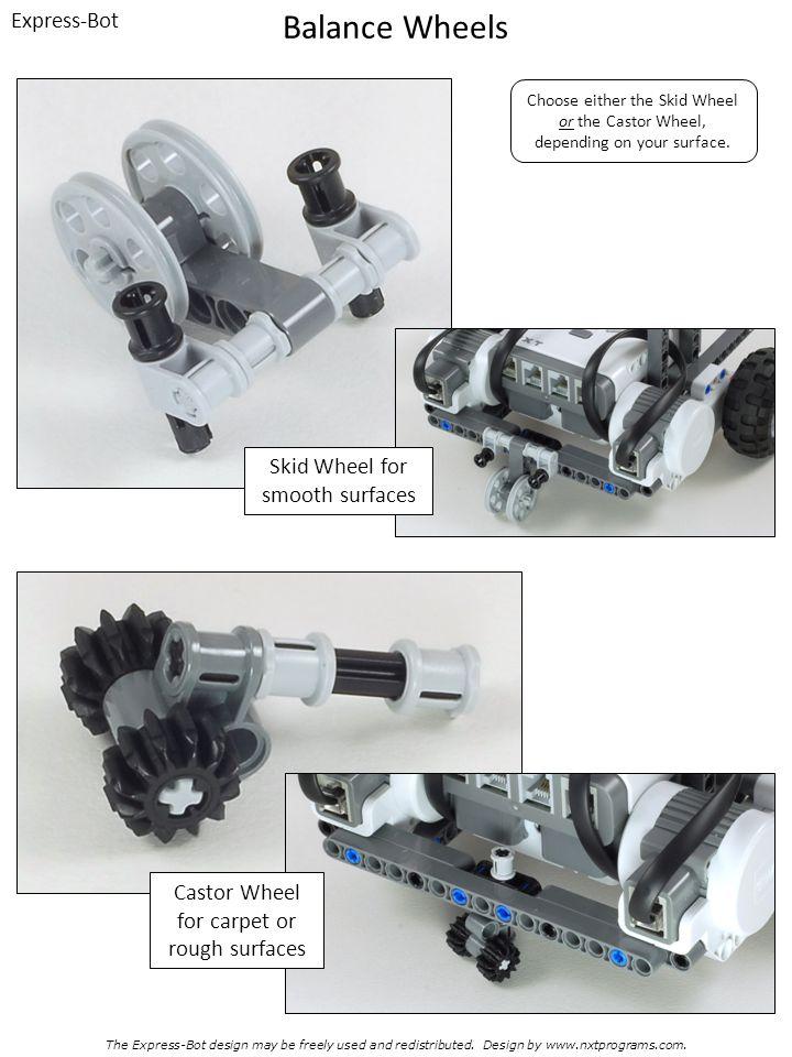 Balance Wheels Express-Bot Skid Wheel for smooth surfaces