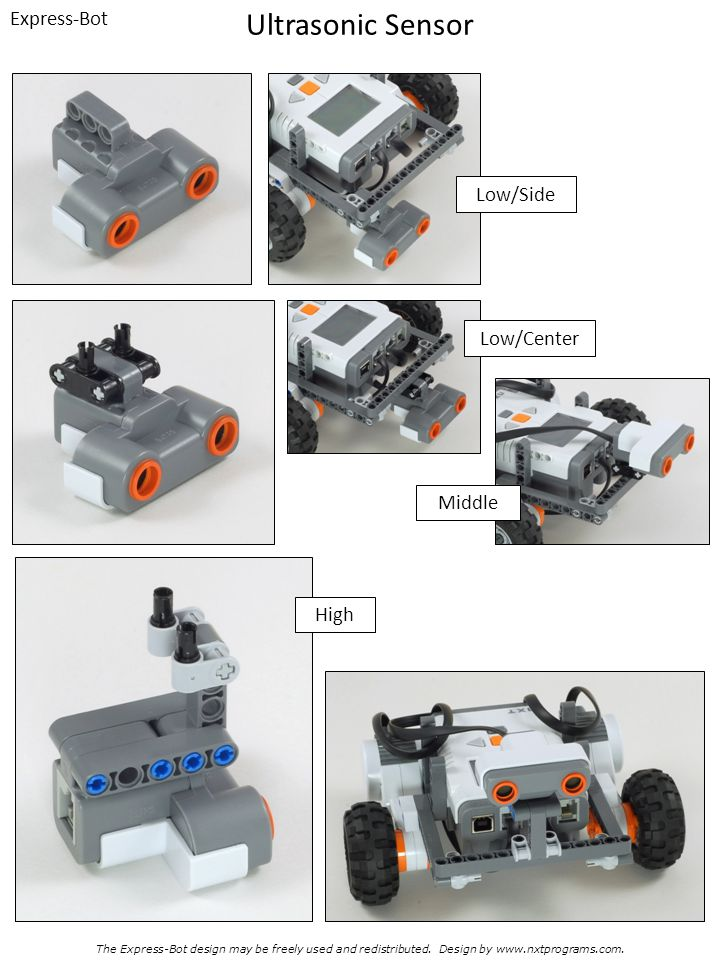 Ultrasonic Sensor Express-Bot Low/Side Low/Center Middle High