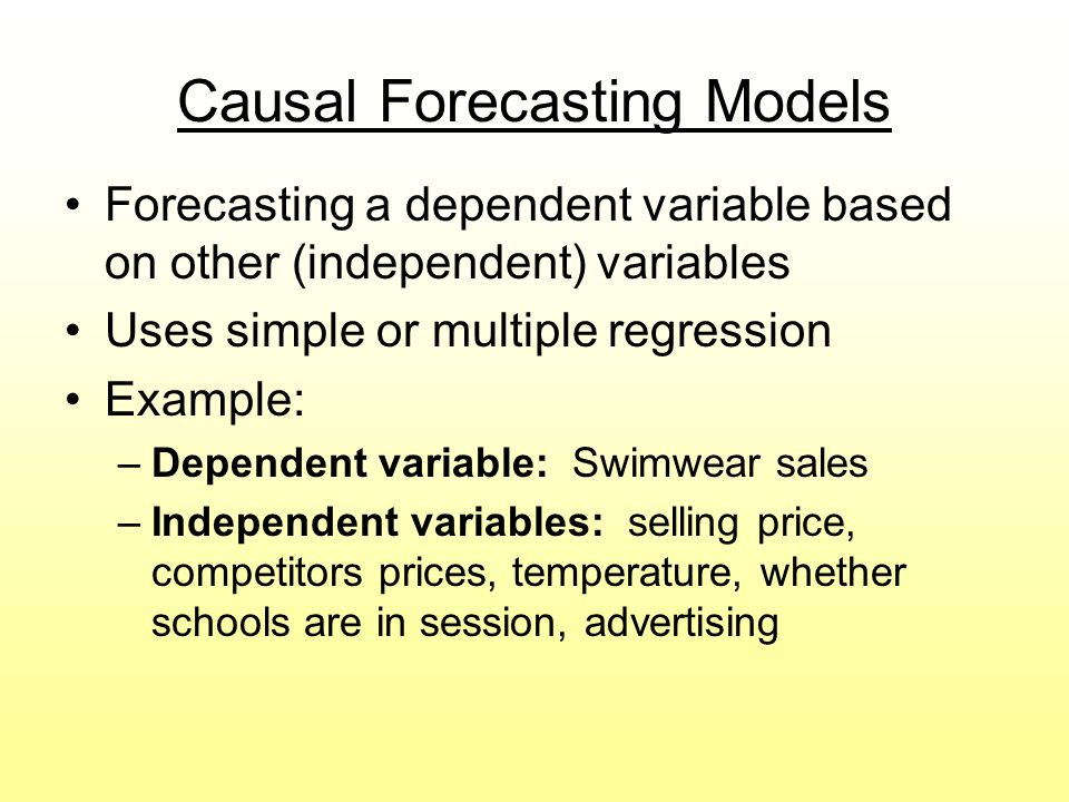 Causal Forecasting Models
