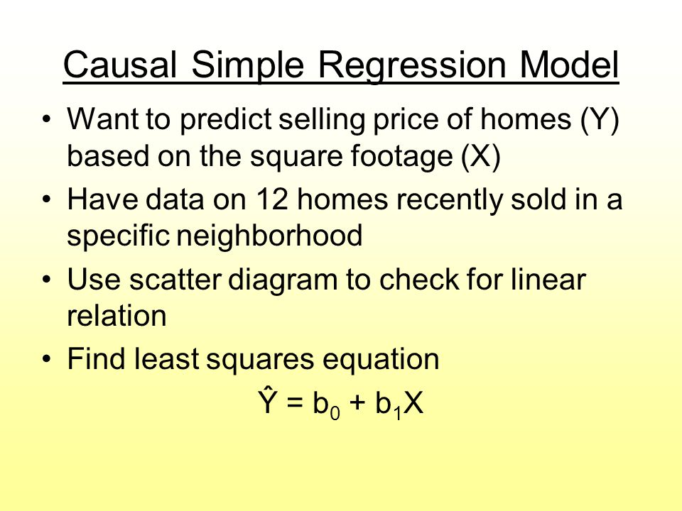 Causal Simple Regression Model