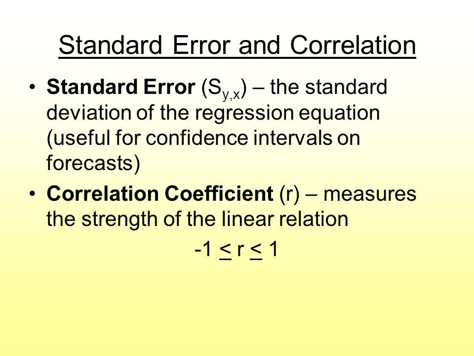 Standard Error and Correlation