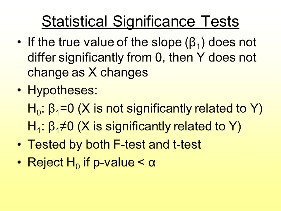 Statistical Significance Tests