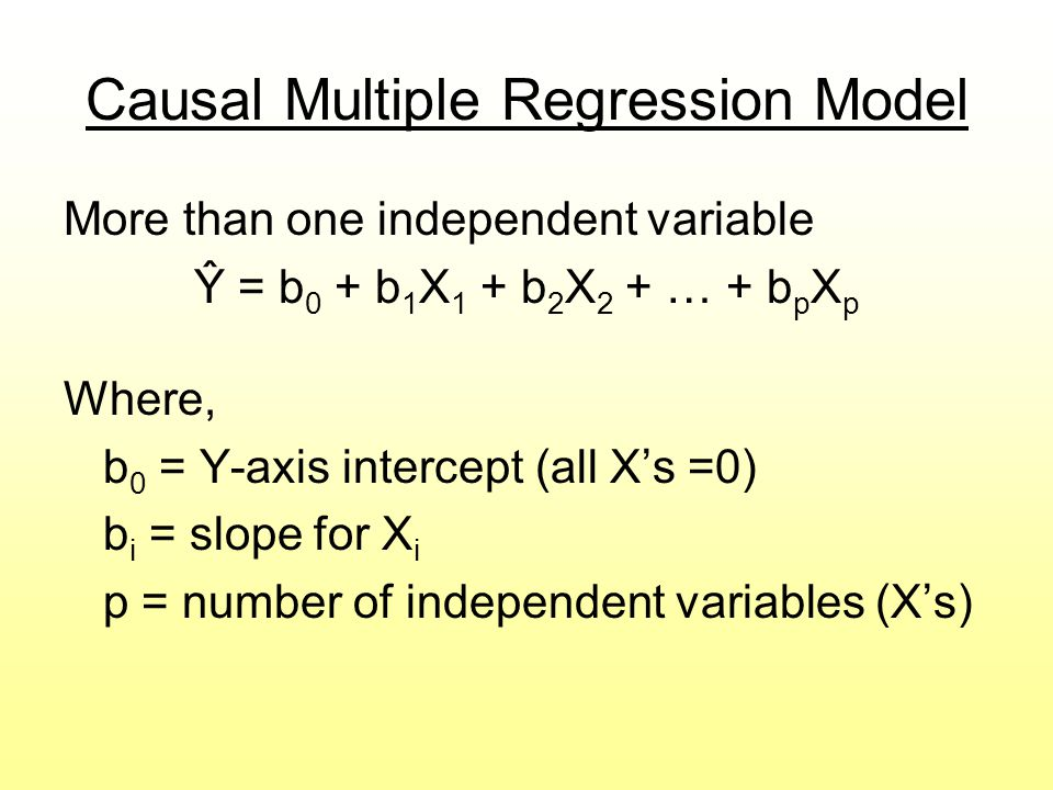 Causal Multiple Regression Model