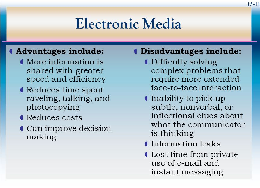 the advantages disadvantages and ways of advertising products in electronic media