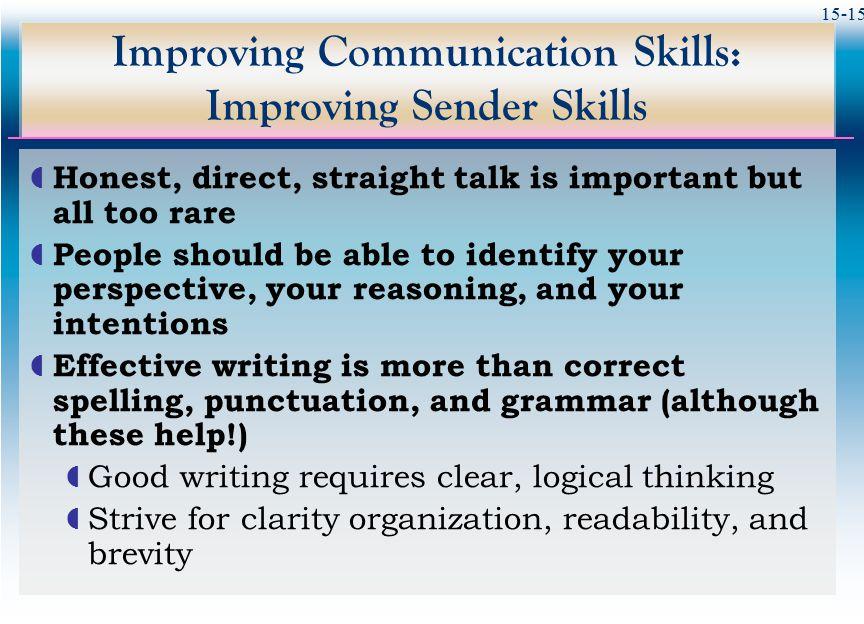 Improving Communication Skills: Improving Sender Skills