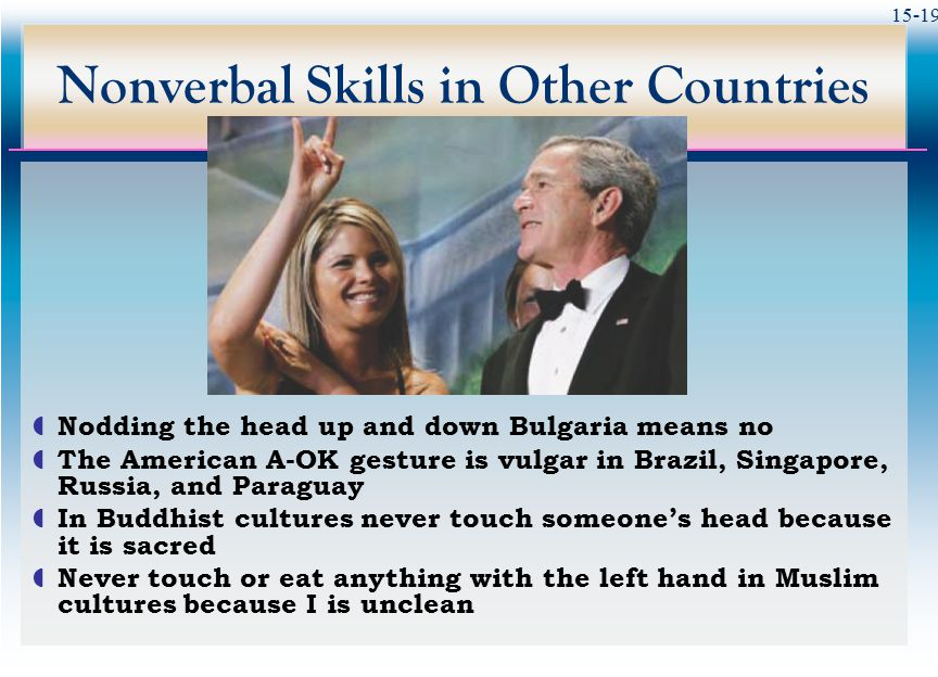 Nonverbal Skills in Other Countries