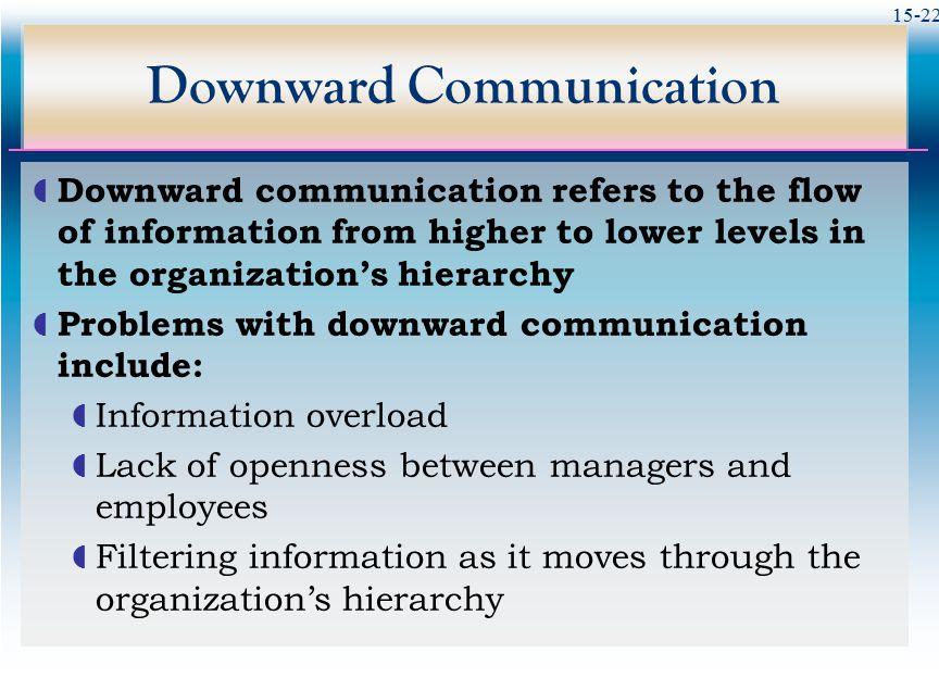 Downward Communication