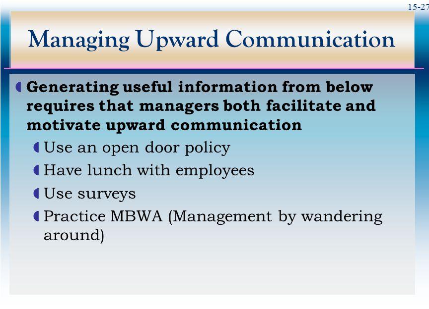 Managing Upward Communication