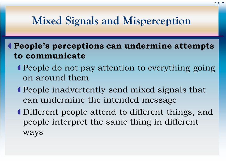 Mixed Signals and Misperception