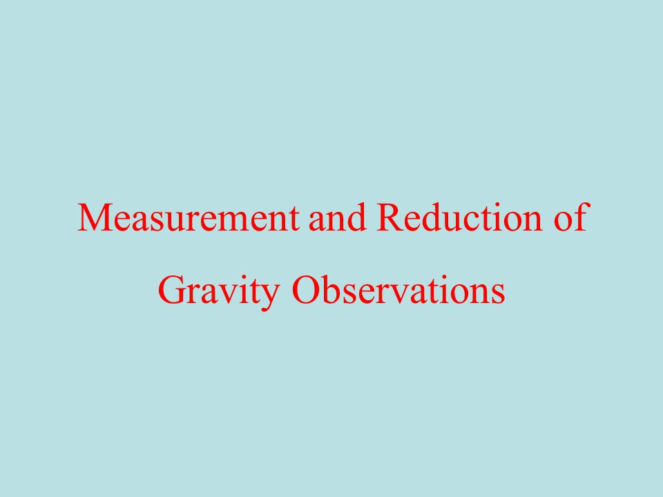 Measurement and Reduction of