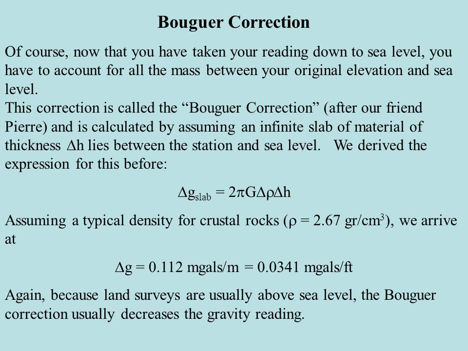 Bouguer Correction