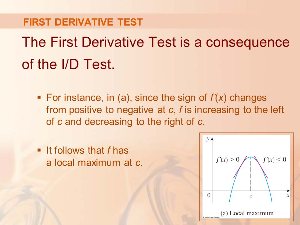 The First Derivative Test is a consequence of the I/D Test.