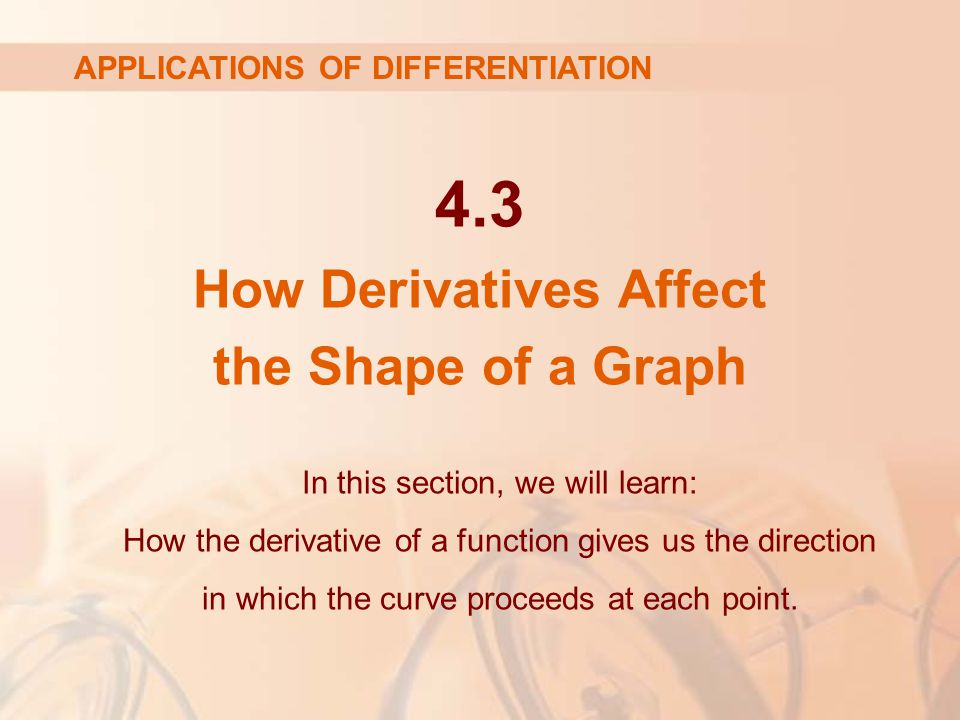 4.3 How Derivatives Affect the Shape of a Graph