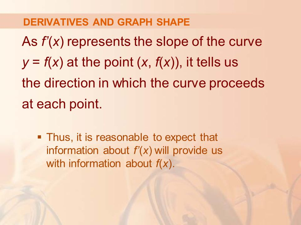 DERIVATIVES AND GRAPH SHAPE