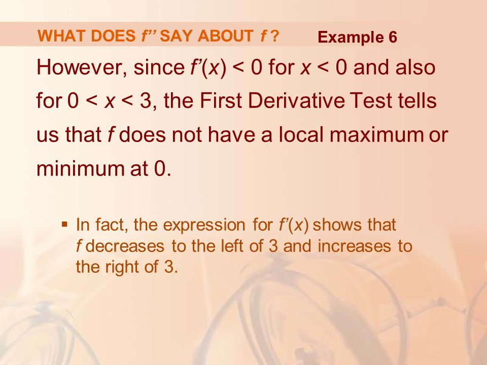 WHAT DOES f'' SAY ABOUT f