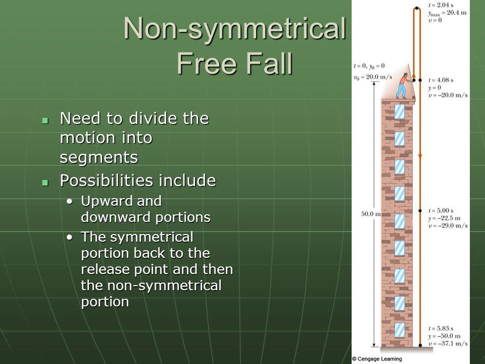Non-symmetrical Free Fall