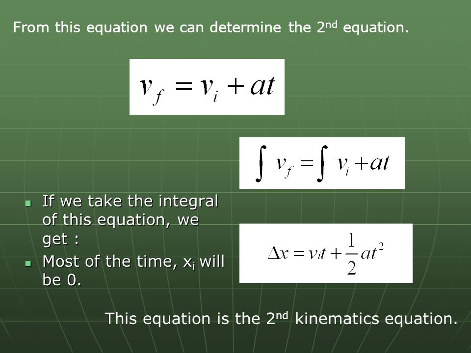 If we take the integral of this equation, we get :