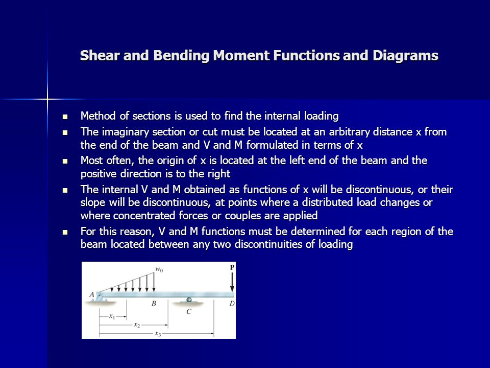 Shear and Bending Moment Functions and Diagrams