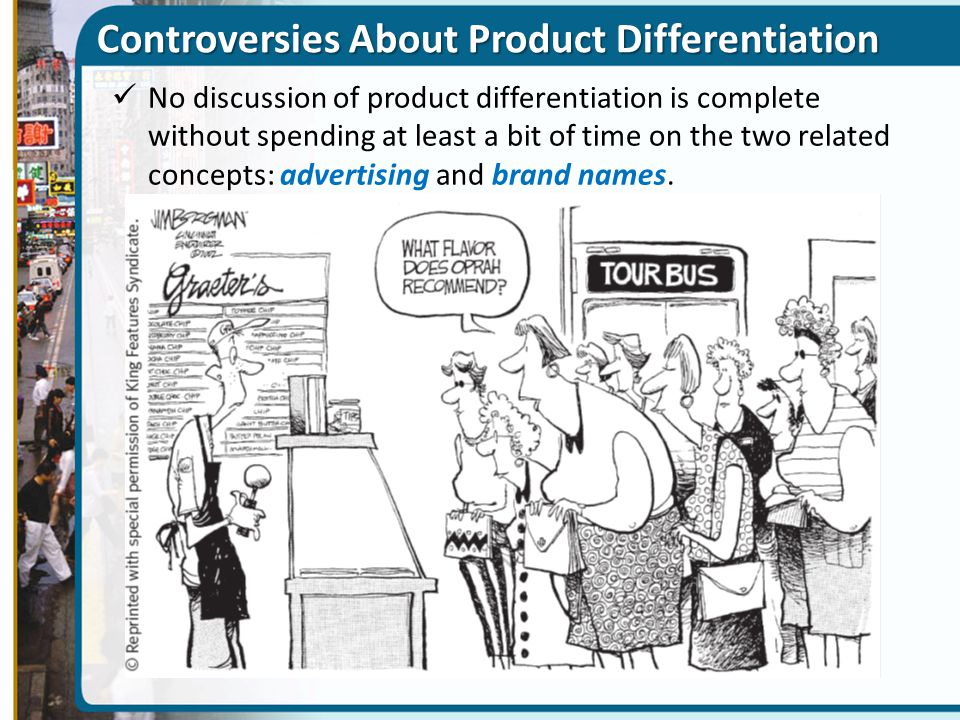 Controversies About Product Differentiation