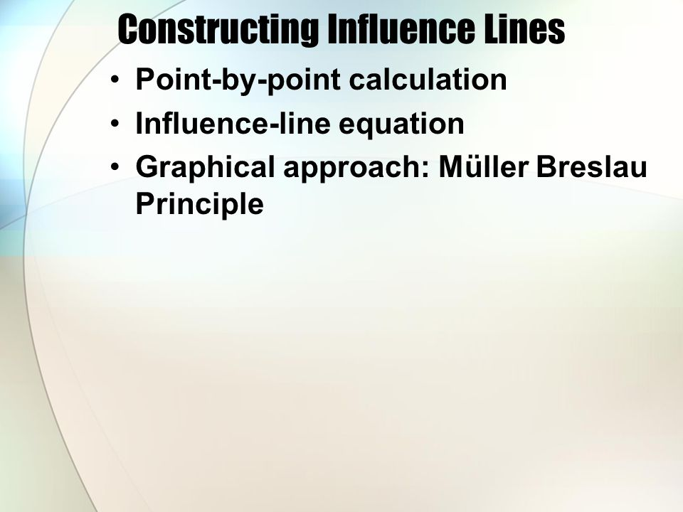 Constructing Influence Lines