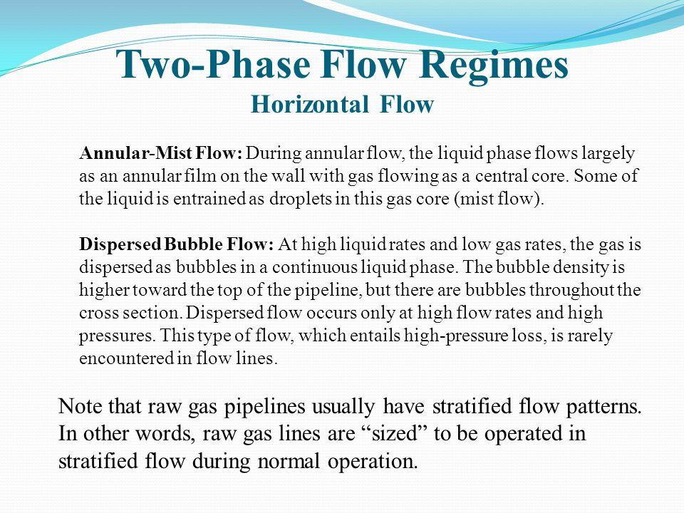Two-Phase Flow Regimes Horizontal Flow