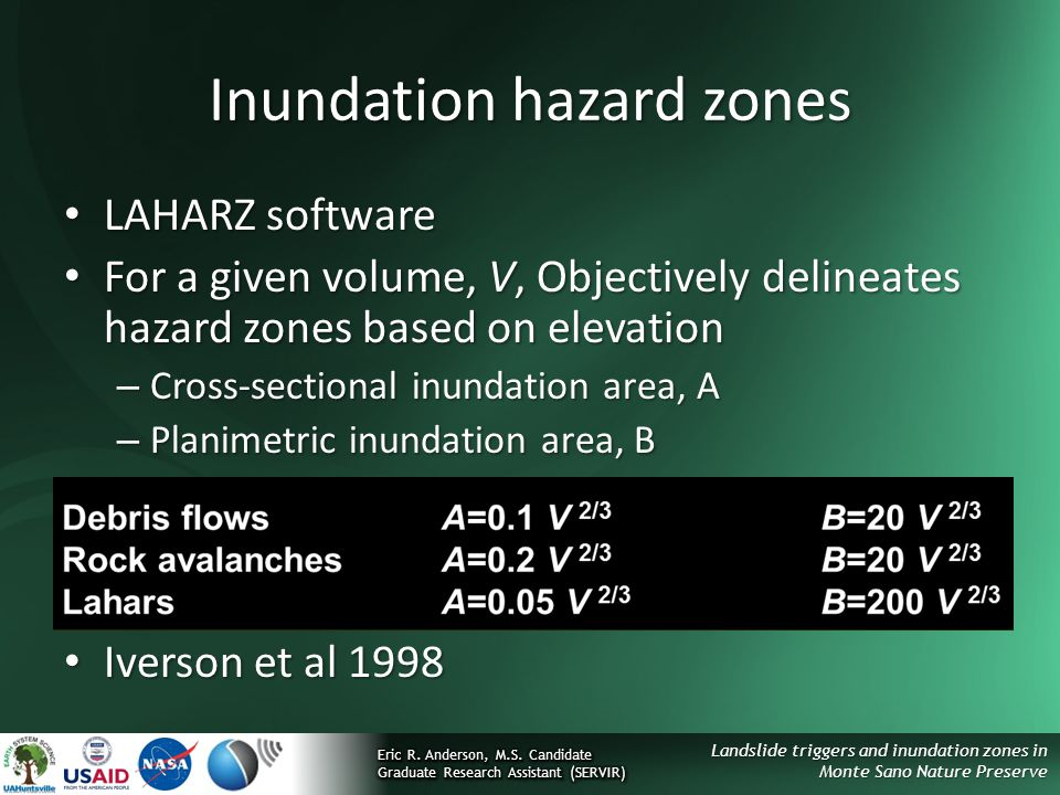 Inundation hazard zones