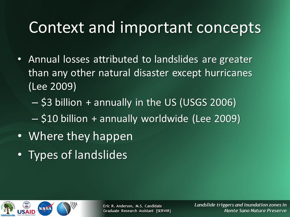 Context and important concepts