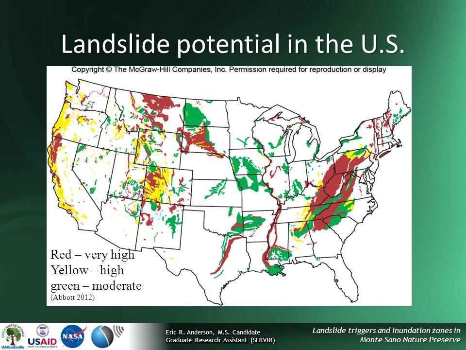 Landslide potential in the U.S.