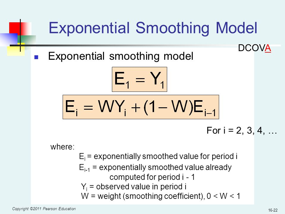 Exponential Smoothing Model