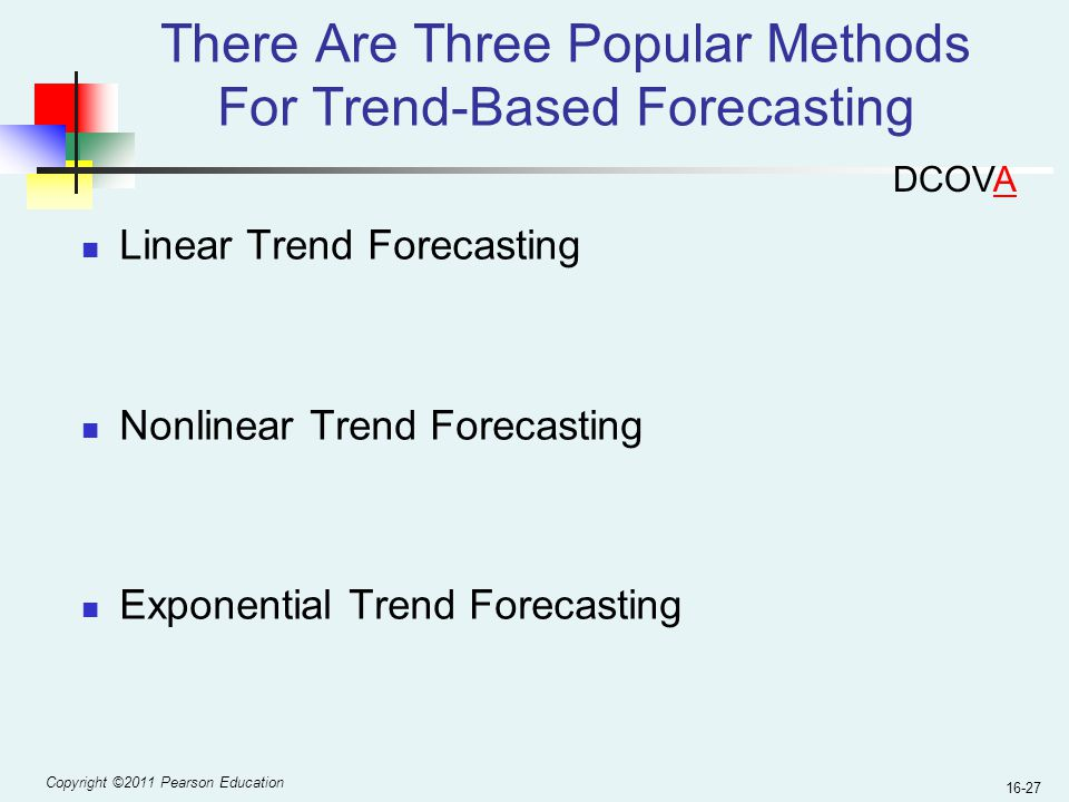 There Are Three Popular Methods For Trend-Based Forecasting