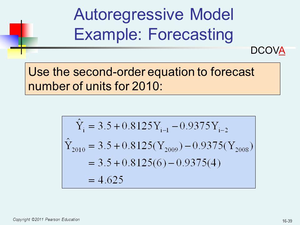 Autoregressive Model Example: Forecasting