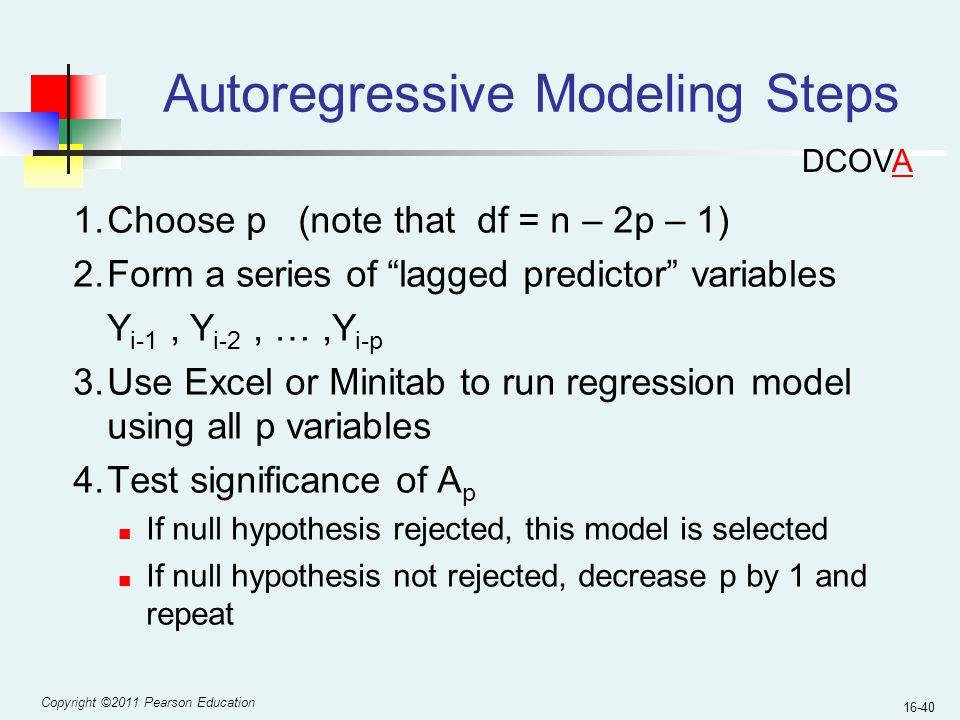 Autoregressive Modeling Steps