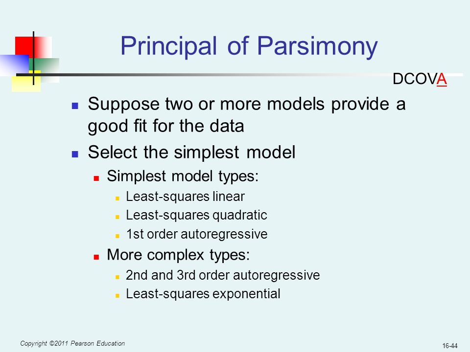 Principal of Parsimony
