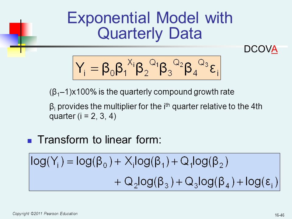 Exponential Model with Quarterly Data