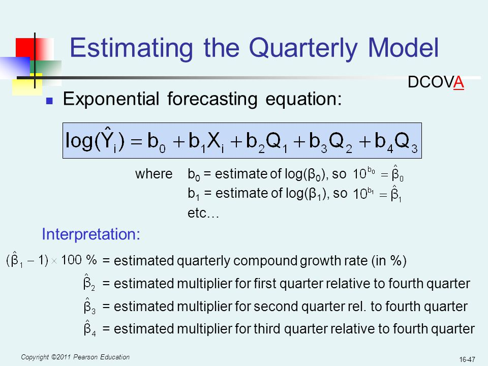 Estimating the Quarterly Model
