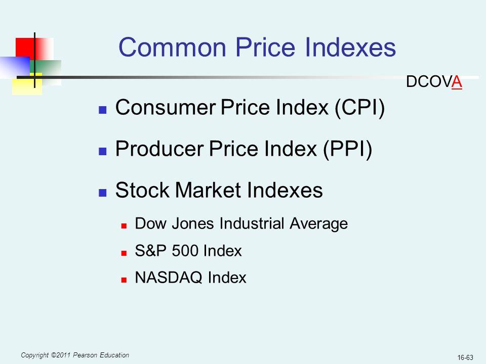 Common Price Indexes Consumer Price Index (CPI)
