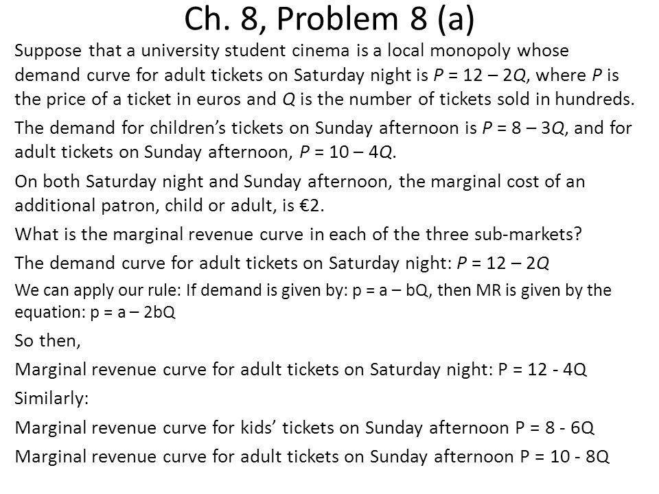 Ch. 8, Problem 8 (a)