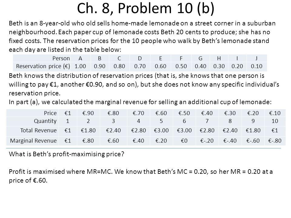 Ch. 8, Problem 10 (b)