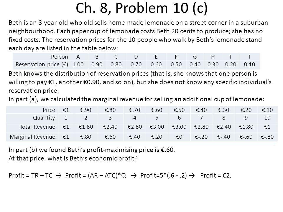 Ch. 8, Problem 10 (c)
