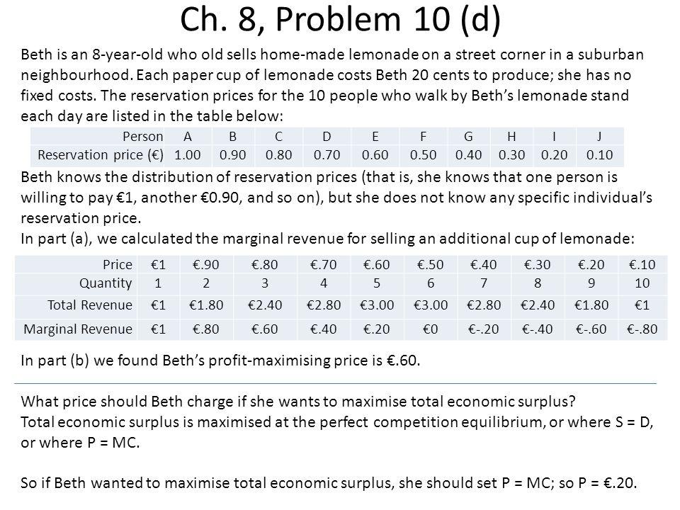 Ch. 8, Problem 10 (d)