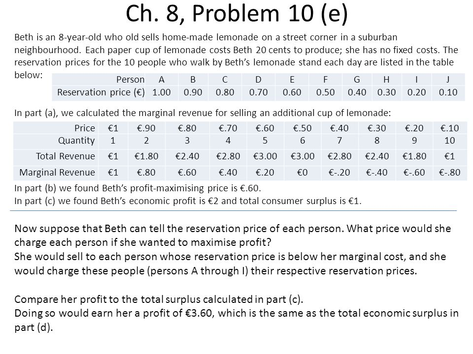 Ch. 8, Problem 10 (e)