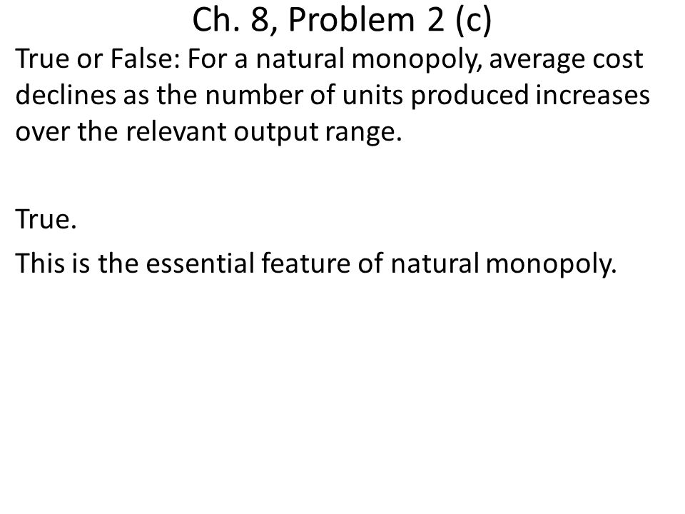 Ch. 8, Problem 2 (c)