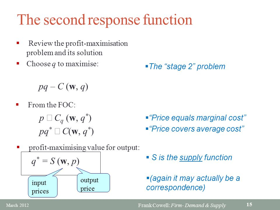 The second response function