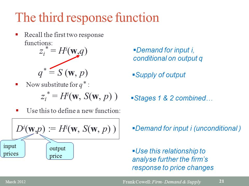 The third response function