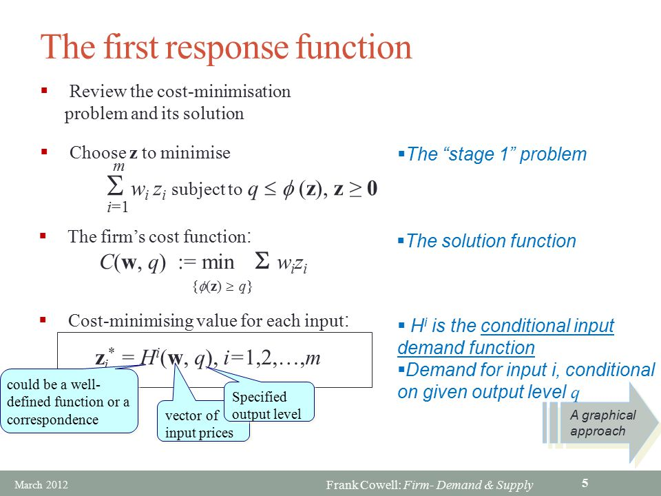 The first response function