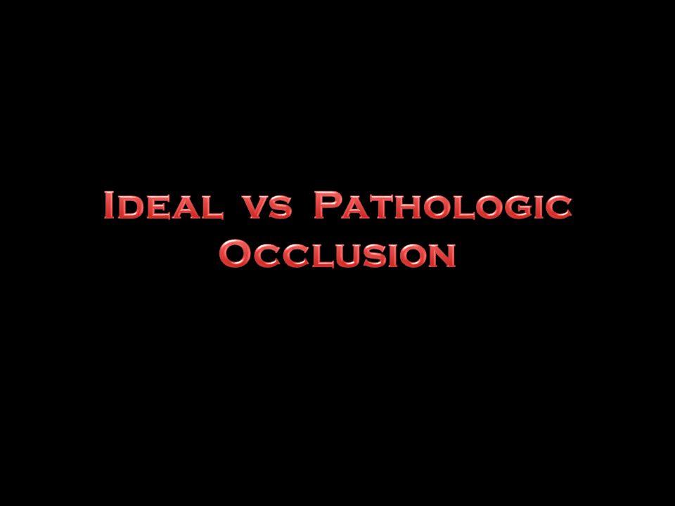 Ideal vs Pathologic Occlusion