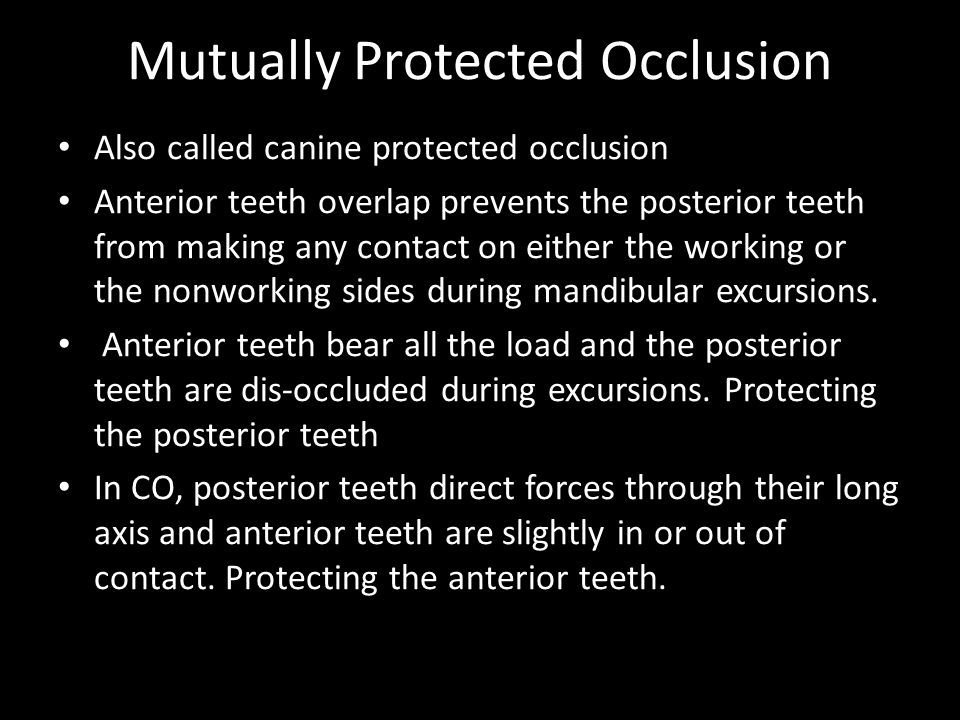 Mutually Protected Occlusion