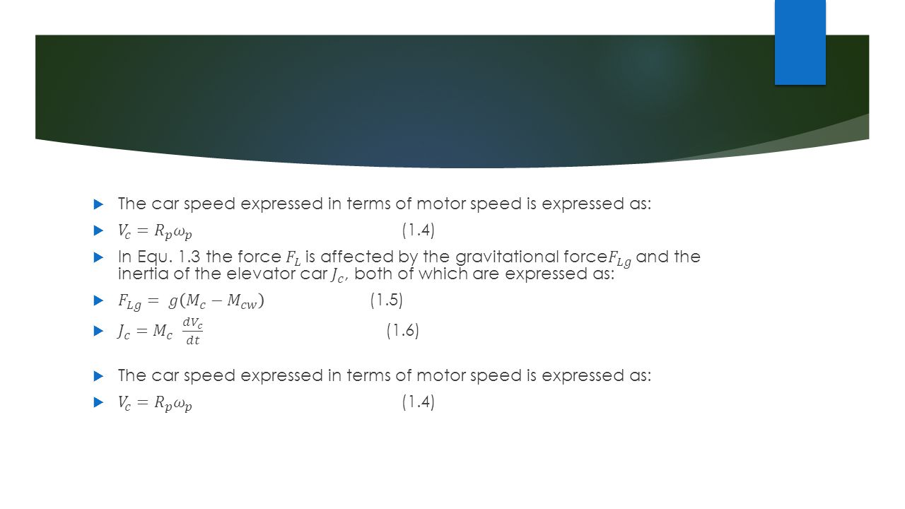 The car speed expressed in terms of motor speed is expressed as: