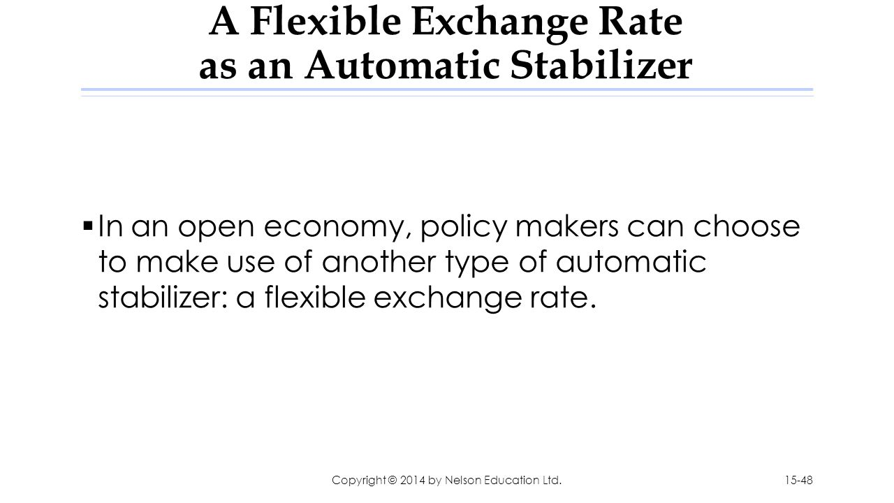 A Flexible Exchange Rate as an Automatic Stabilizer