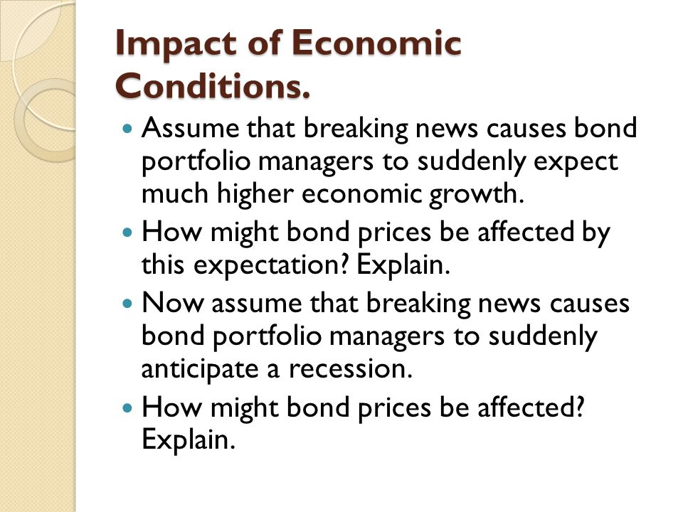 Impact of Economic Conditions.
